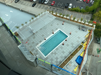 Pool deck from the 13th floor.