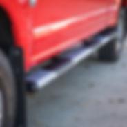 Red-Truck-Silver-O-Mega-II-Side-Steps-LU