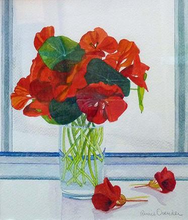 Annie Ovenden - Nasturiums. Watercolour