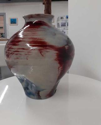 Large Oxblood Vase