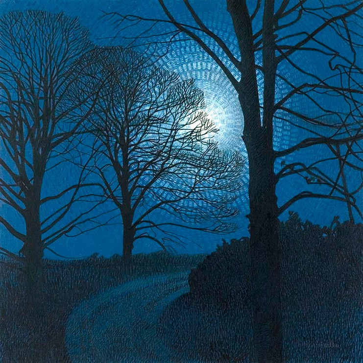 Annie Ovenden - Full Moon at Caerhays