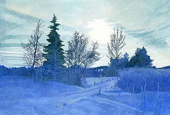 Annie Ovenden - Blue Snow Scene