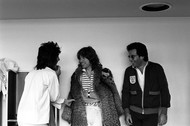 Carinthia West - Mick Jagger, Ronnie Wood, and Bob Ellis - The Long Night