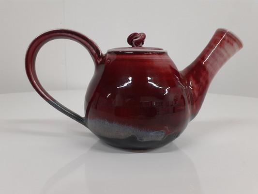 Oxblood Fired Tea Pot