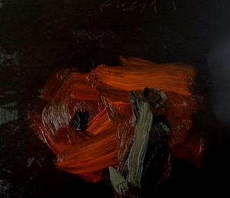 Donna Festa - Red Flower (2011). Oil on