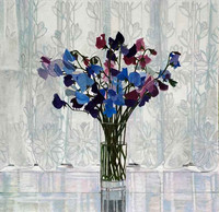 Annie Ovenden - Sweet Peas and Net Curtains