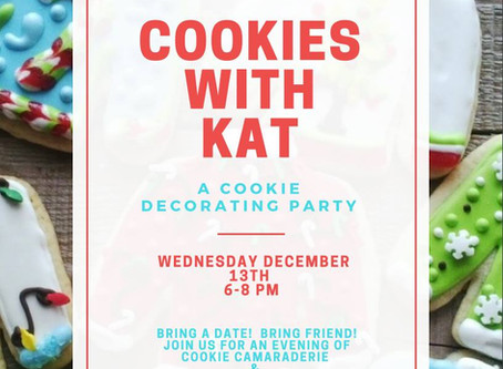 EVENT: Cookies with Kat - A cookie decorating Party!