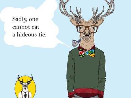 Walk away from the hideous tie.