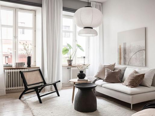 Small home studio in grey & beige
