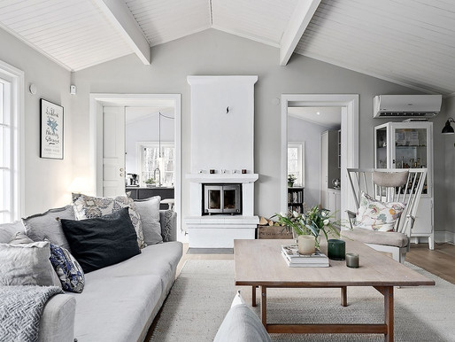 Home Tour into a Swedish wooden house by the sea