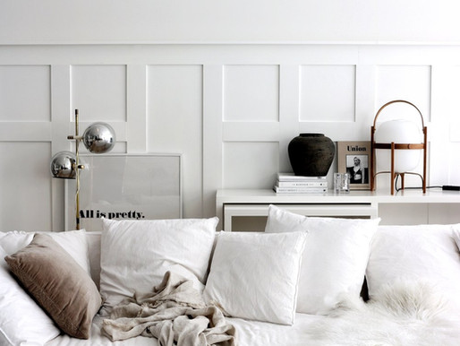 Home Tour into a Swedish Minimalist winter white home