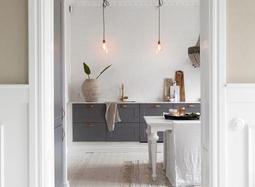 Home Tour into a Design white & wood Swedish apartment