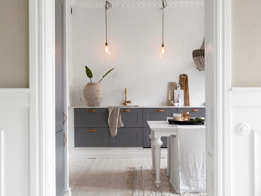 Home Tour into a Design white & wood Swedish apartment