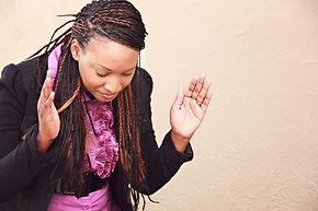 African American Woman Praying Christian
