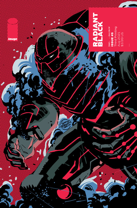 RADIANT BLACK #5 CLIFFHANGER HOOKS MORE READERS, REPRINT SELLS-OUT AT DISTRIBUTOR LEVEL DAY OF RELEA