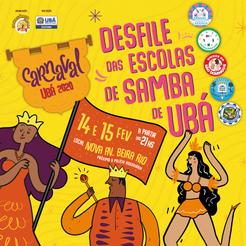 ID Visual e execução de artes online e offline para carnaval da cidade de Ubá. 2020