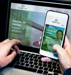 Criação de marca, identidade visual, papelaria e site institucional para Master Trust