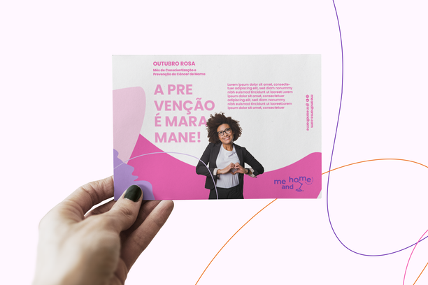 Criação de marca e identidade visual e papelaria para Me And Home