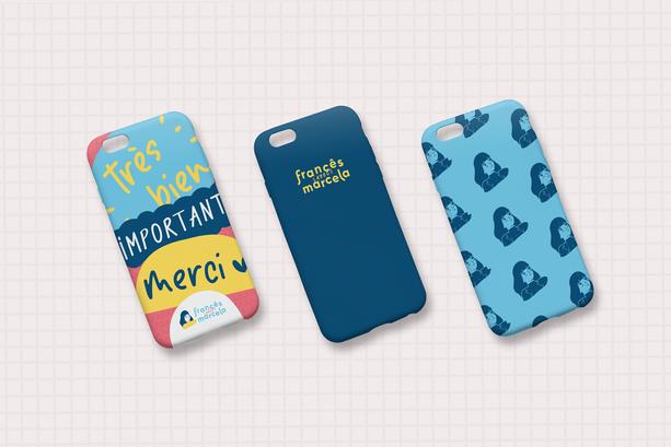 Criação de marca e identidade visual e papelaria para Francês Avec Marcela