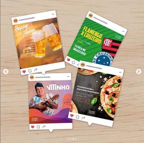 Gerenciamento, criação de conteúdo e execução de artes para mídias sociais Empório Central - 2016 até dias presentes