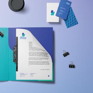 Criação de marca e identidade visual e papelaria para Base Serviços Financeiros