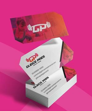Criação de marca e identidade visual e papelaria para Gleice Paes Personal