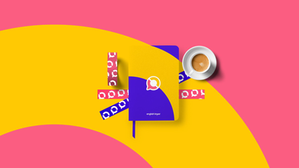 Criação de marca e identidade visual e papelaria para English Linker