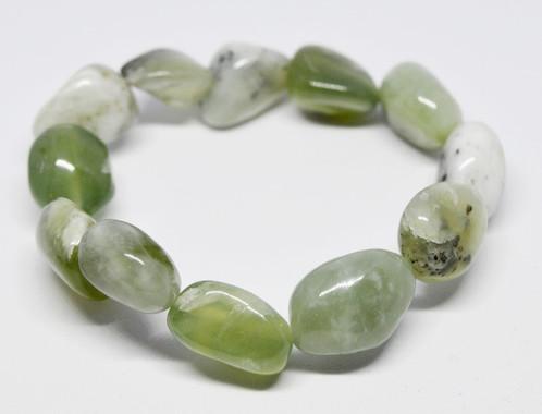 Jade Tumble Stone Bracelet