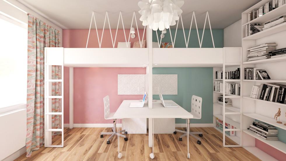 PROJEKT POKOJU DZIECIĘCEGO 16 m²