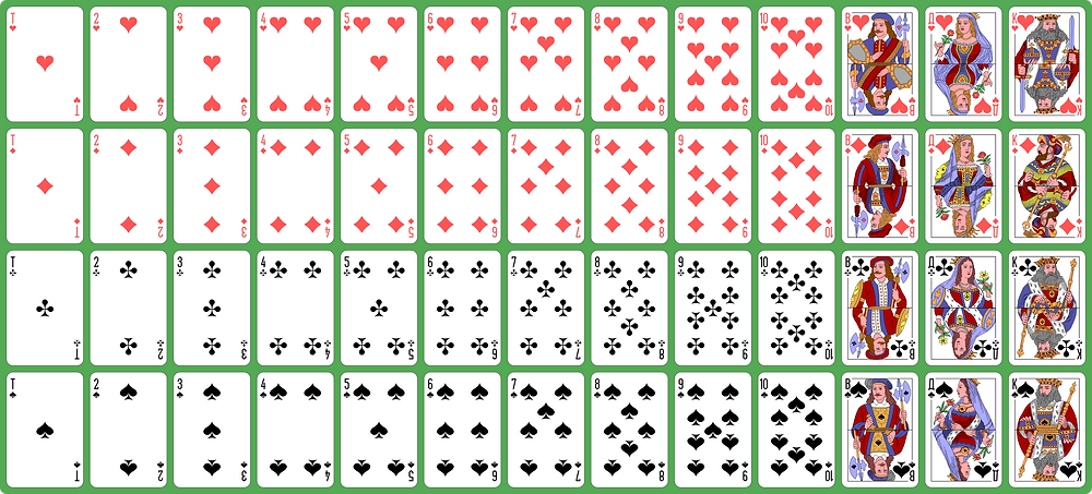 I started to design the game utilising a regular deck of cards.