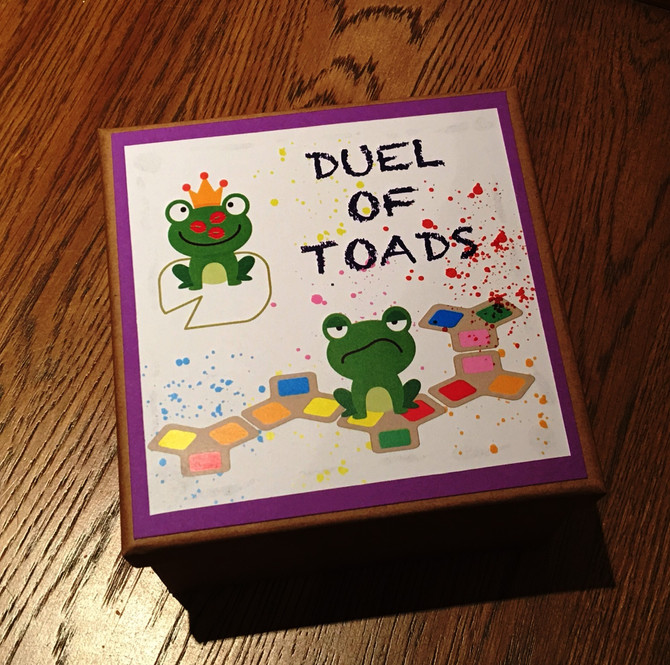 Duel of Toads - Board Game Project | Rule Book & Visuals
