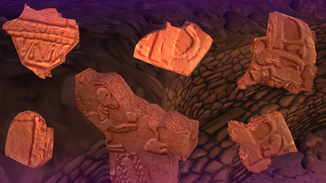 Actual artifacts of the site are modelled to be used in the puzzles