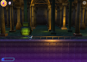 The character is in Basilica Cistern, Istanbul at the arcade action layer.