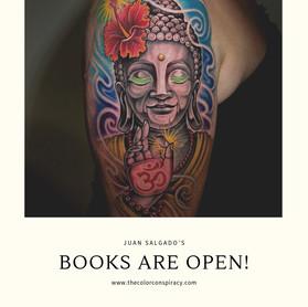 Juan Salgado's books are open!