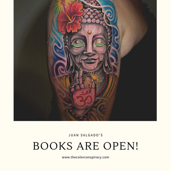 Juan Salgado's books are open!
