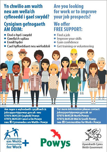 Communities for Work poster advretising the project