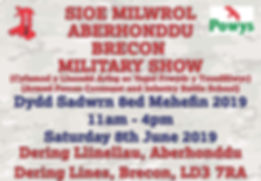 Brecon Military Show Advert 100mm x 140m