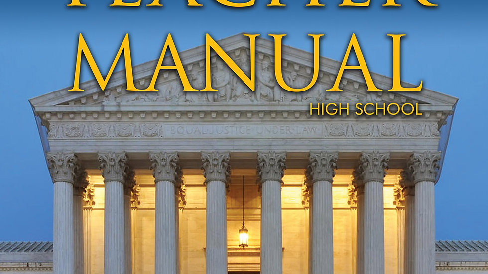 Teacher Manual--High School (Digital)