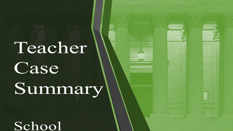 Teacher Case Summary: School Prayer (Digital)