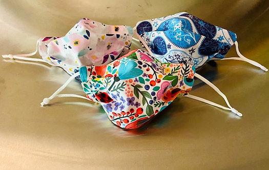 Custom Barrier Masks - Reusable, Reversible, Adjustable