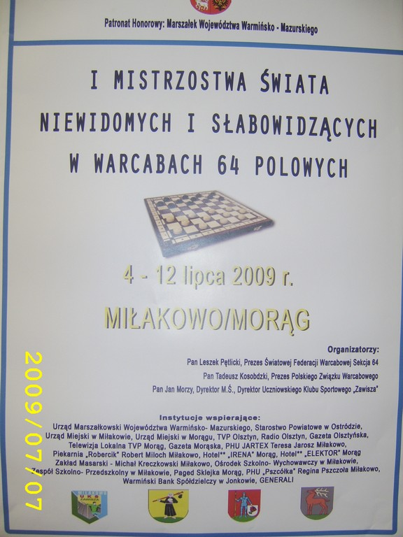 2009. Milakowo-Morag. World Draughts-64 Blind and Partially Sighted 023