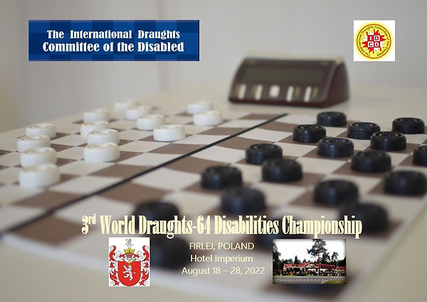 2022. Firlej. 3rd World Draughts-64 Disabilities Championship. Poster.jpg