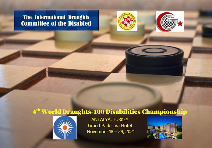2021. Antalya. 4th World Draughts-100 Disabilities Championship. Poster.jpg