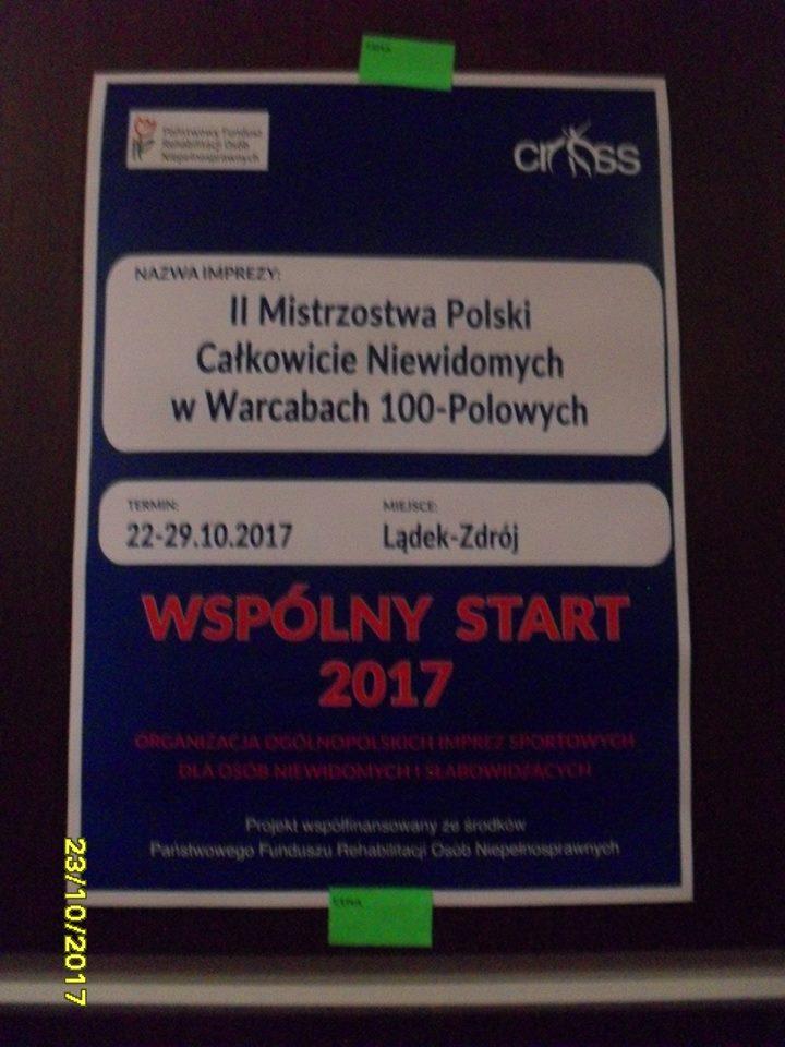 2017. Ladek Zdroj. II Mistrzostwa Polski Niewidomych w Warcabach Stupolowych 12