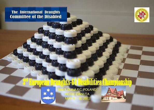 2022. Bialy Dunajec. 3rd World Draughts-64 Disabilities Championship. Poster (Danuta).jpg
