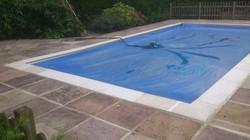 Paving slabs. Pool