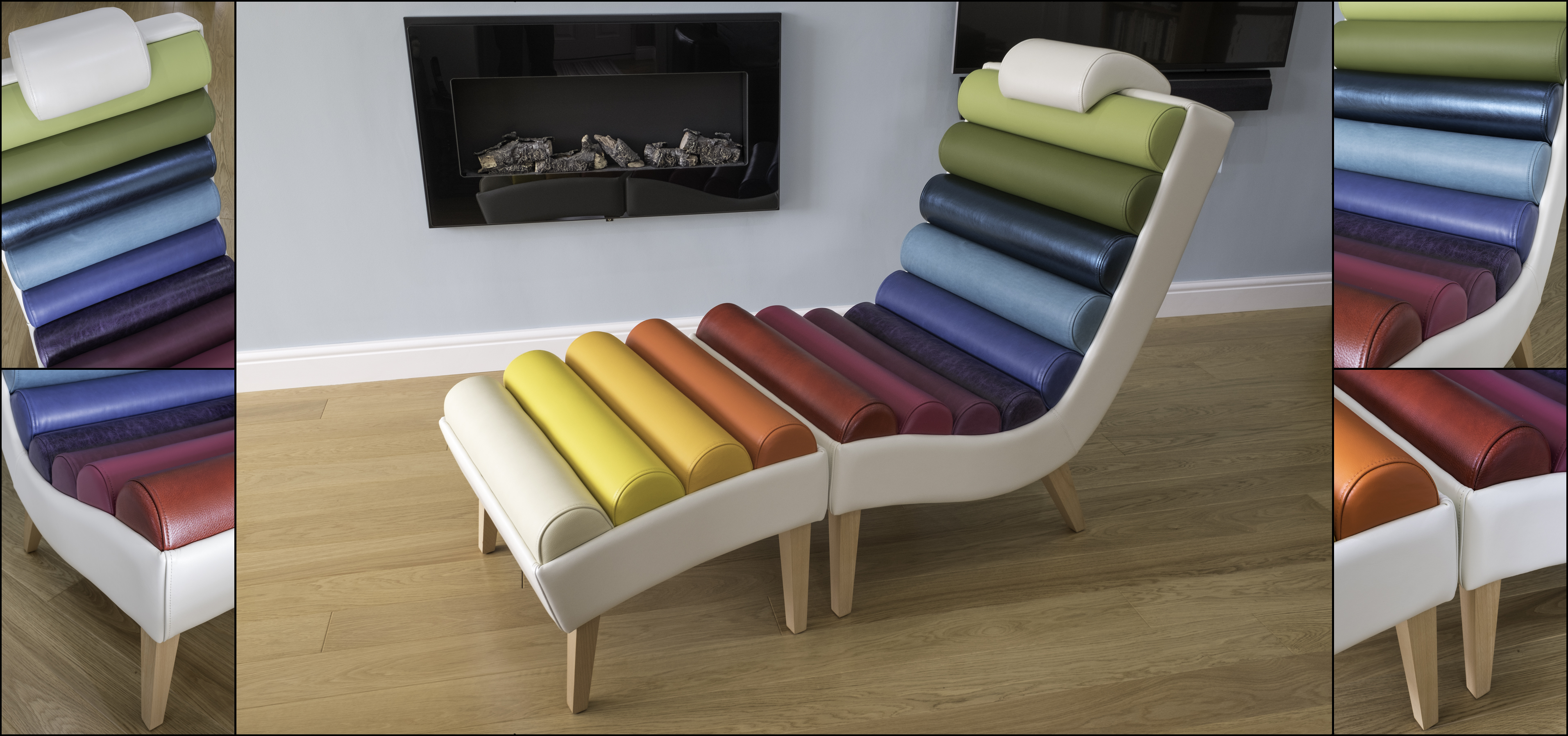 The Multicoloured Split Day Lounger