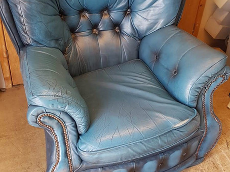 Margaret and David's Re-upholstered Chair