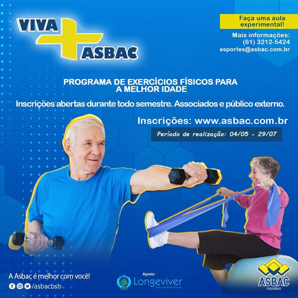 Atividade física é saúde!