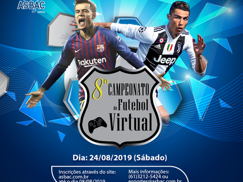 Vem aí: 8º Campeonato de Futebol Virtual Asbac